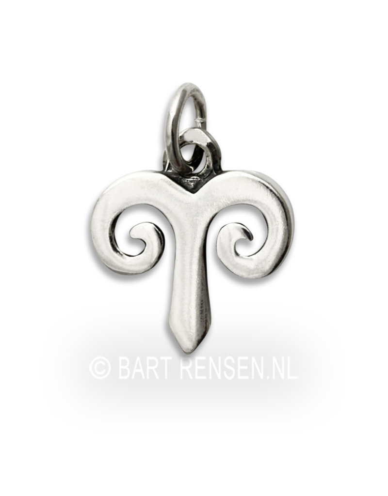 Aries pendant - sterling silver