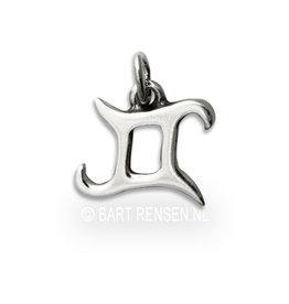 Tweeling hanger - zilver