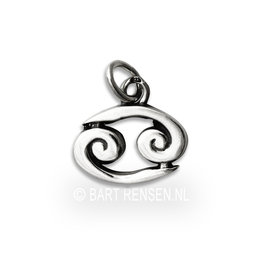 Cancer pendant - silver