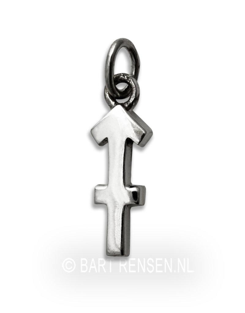 Boogschutter hanger - echt zilver