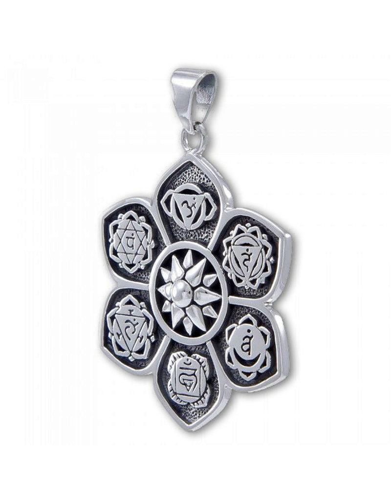 Chakra pendant - sterling silver