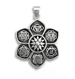 Zilveren Chakra hanger