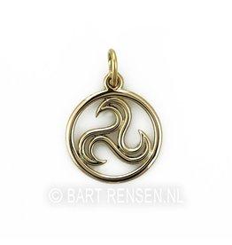 Golden Triskel pendant