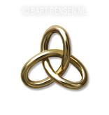 Gordiaanse knoop hanger - 14 krt goud