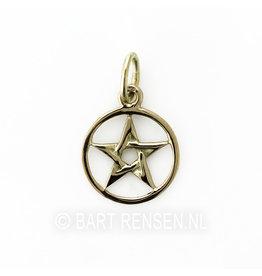 Gouden Pentagram hanger -