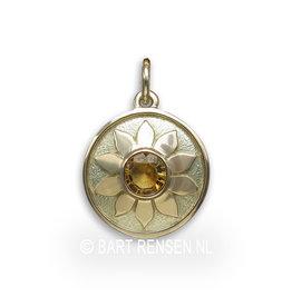 Solar Plexus Chakra pendant - citrine - 585 gold