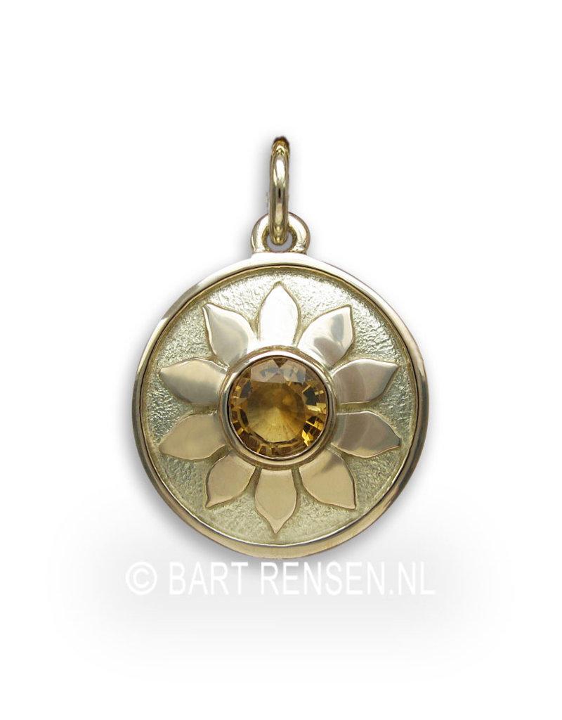 Solar Plexus Chakra pendant - citrine - 14 carat gold
