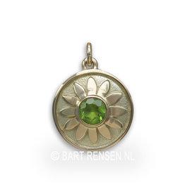 Heart Chakra Peridot - gold