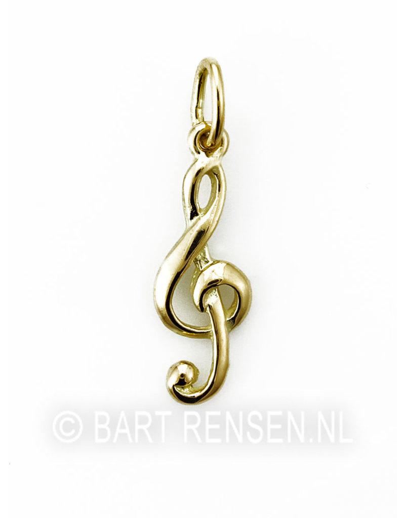 music key pendant - 14 carat gold