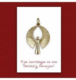 Kerstkaart  - Gouden Engel