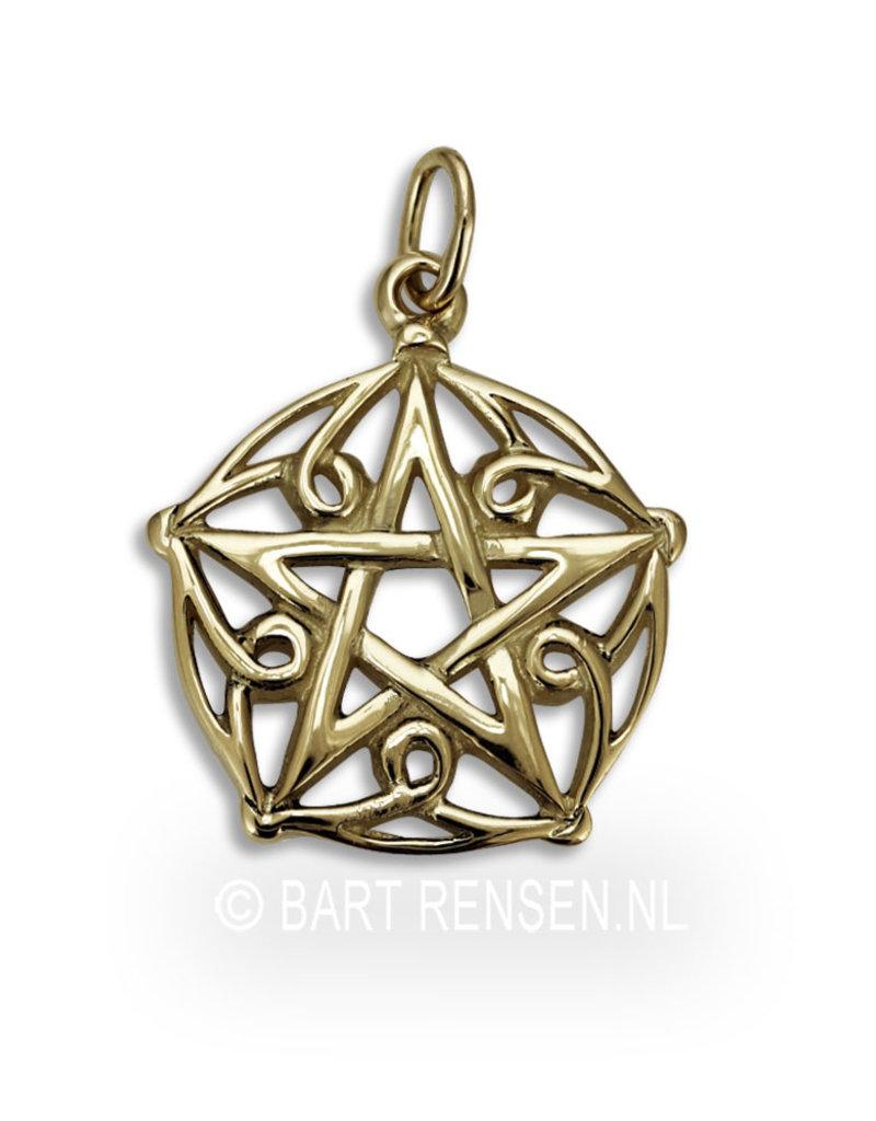 Pentagram pendant - 14 crt gold