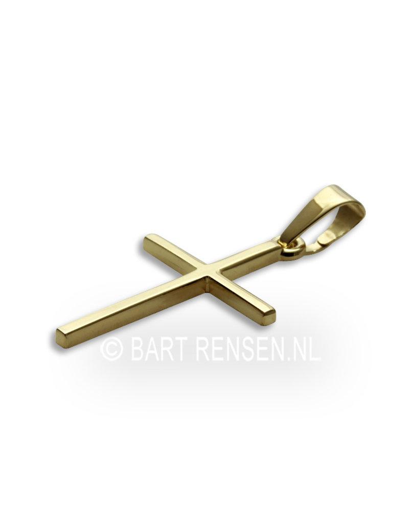 Cross pendant - 14 krt gold