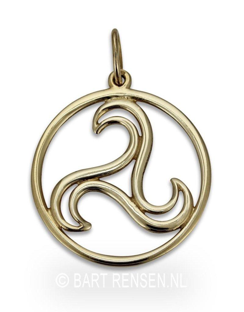 Triskel hanger - 14 krt goud