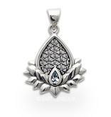 Flower of Life Lotus pendant - sterling silver