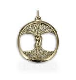 Liefdesboom hanger -14 krt goud