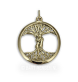 Love tree pendant -14 crt gold