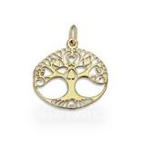 Levensboom hanger - 14 krt goud