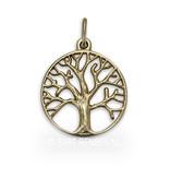 Tree of life pendant - 14 crt gold
