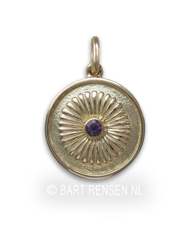 Kruin Chakra hanger - Amethyst - 14 krt goud
