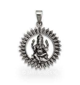 Zilveren Ganeesha hanger