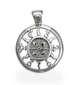 Four Elements & Planets pendant - silver