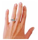 Triquetra  Ring  met Edelsteen - echt zilver