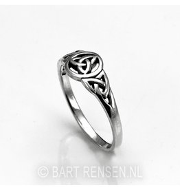 Zilveren Triquetra  Ring