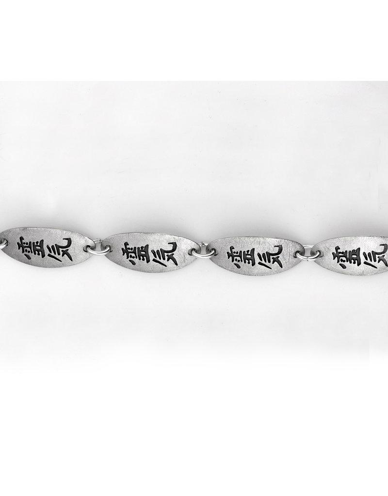 Reiki bracelet - sterling  silver