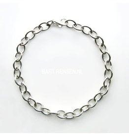 Silver charm bracelet - silver