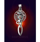 Goddess Pendant - sterling silver