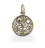 Tree of life pendant Sun and Moon - 14 carat gold