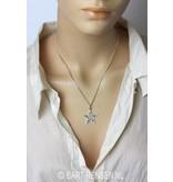 Pentacle pendant - sterling silver