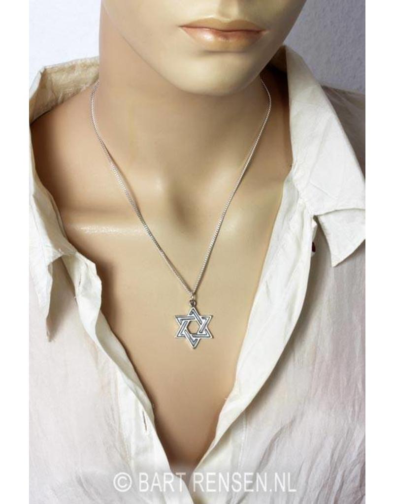 Hexagram pendant - sterling silver