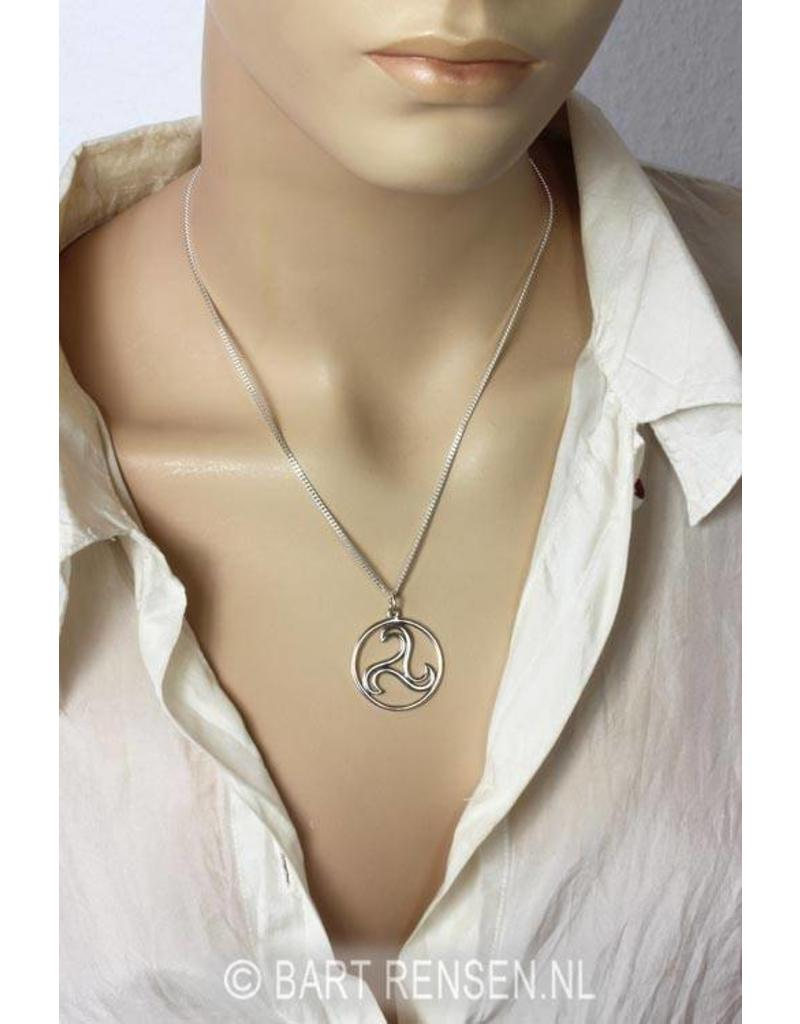 Triskel Pendant - sterling silver