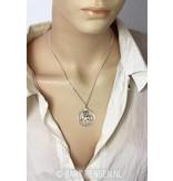 Unicorn pendant - sterling silver