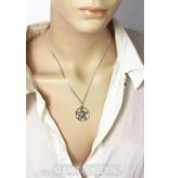 Pentagram pendant - sterling silver