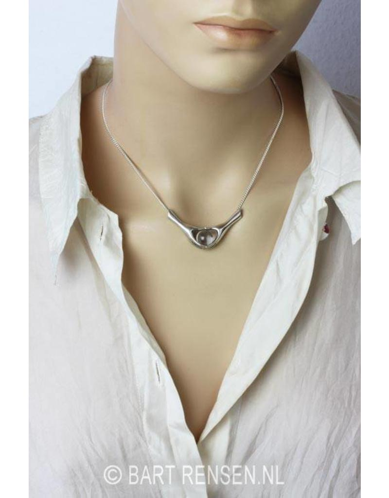 Pendant with hands - sterling silver