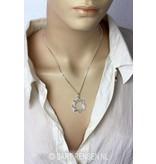 Octagram pendant - sterling silver