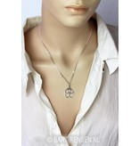 Ankh pendant in circle - sterling silver
