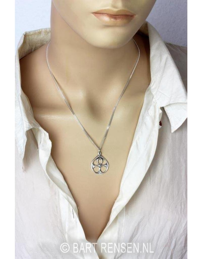 Ankh hanger in cirkel - echt zilver