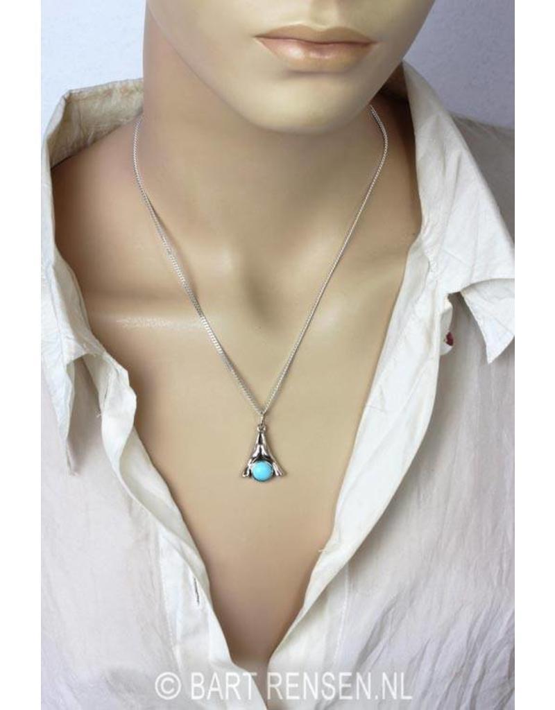 Namaste pendant - real silver