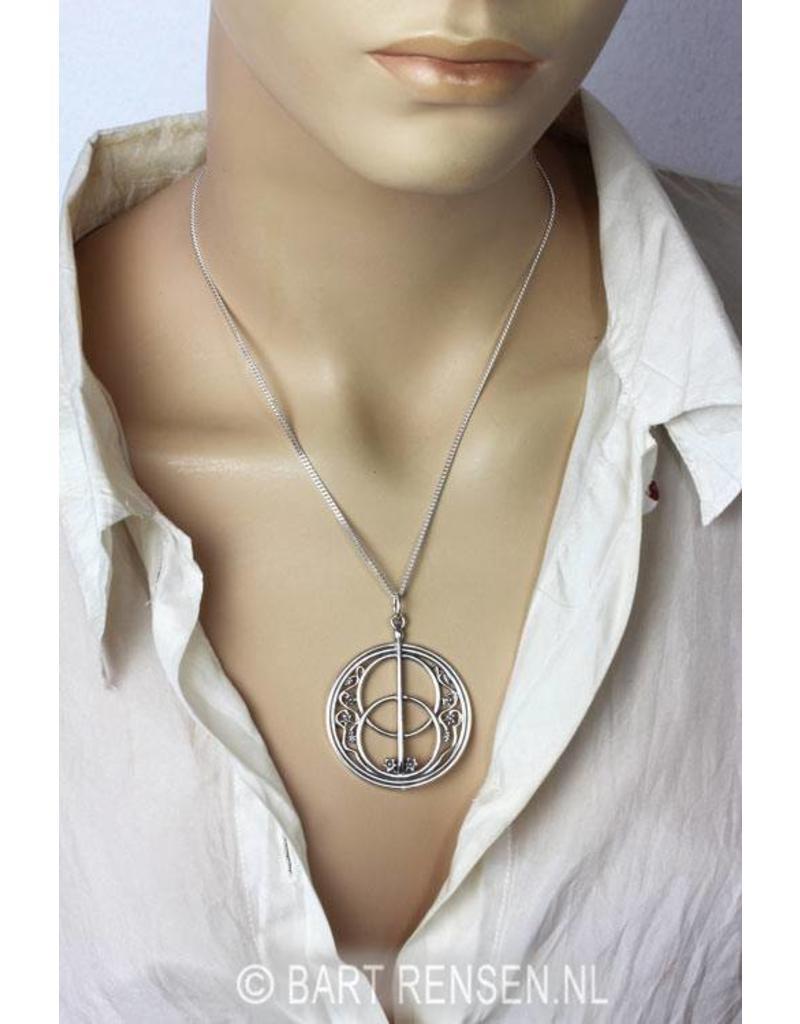 Vesica Pisces hanger - echt zilver