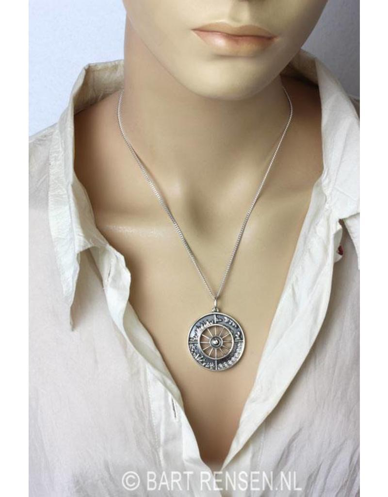 Vier Elementen hanger - echt zilver