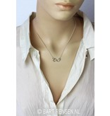 Infinity-Lemniscate pendant - sterling silver