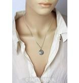 Heart Chakra pendant - sterling silver