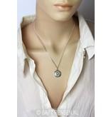 Throat Chakra pendant - sterling silver
