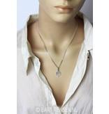Tibetan Knot pendant - sterling silver