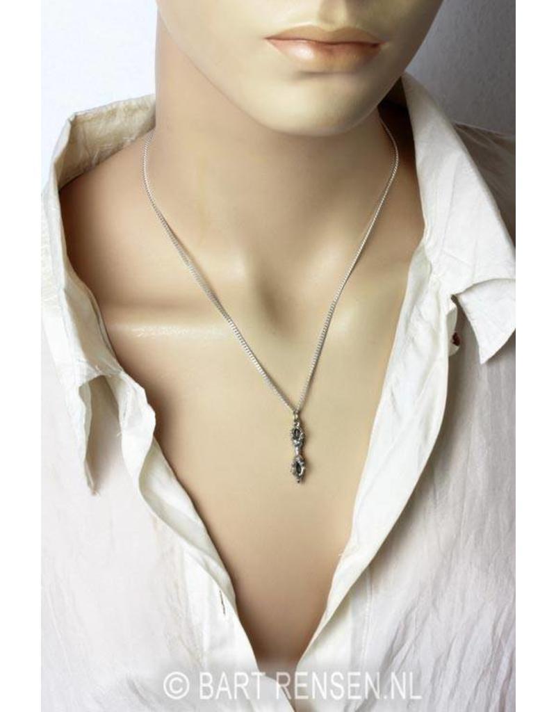 Vajra pendant - sterling silver