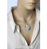 Shou pendant - sterling silver