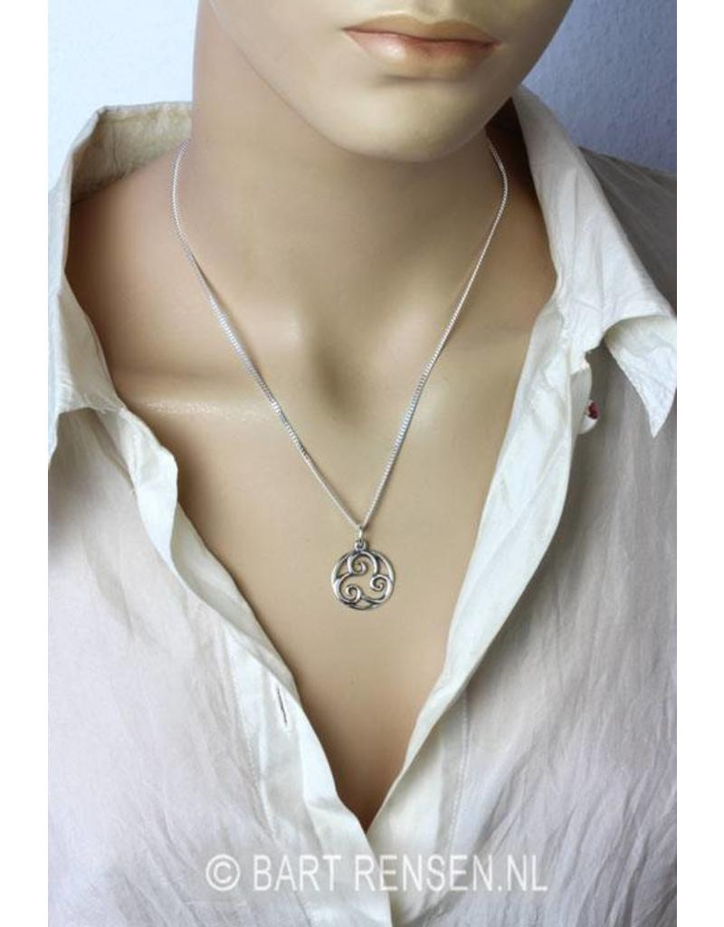 Triskel hanger - echt zilver